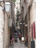 One of the many alleyways in the Old City of Dubrovnik.
