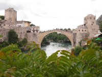 The beautiful Mostar Bridge - called the Old New Bridge. Rebuilt after the war in '91 - '95.