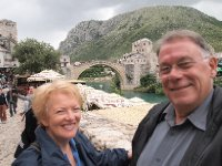 Selfie - Mostar Bridge in the background.