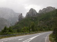 Driving through the gorges - taken from the front of our bus - Bosnia.