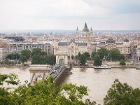 The Chain Bridge, the Danube River, St. Peter's Basilica - Budapest.