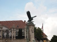 Statue of an eagle outside the Royal Palace - Budapest.