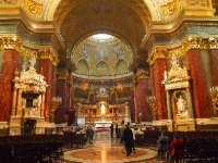 The exquisite altar in St. Peter's Basilica - Budapest.