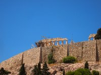 Our first glympse of the Acropolis.