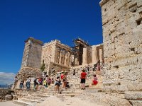The Acropolis - against a beautiful blue sky.