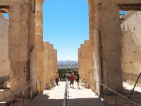 Looking back at the entrance to the Acropolis - Athens.