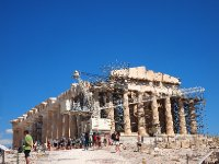 Renovations on the Parthenon are constant.