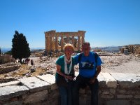 Red and Anne at the Acropolis - Athens.
