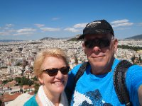 Selfie - Athens in the background.