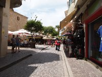 Tourist area of Rethymno.