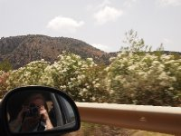 Action shot - mountains and oleanders.