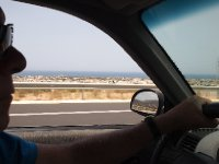 Travelling east - skirting the city of Heraklion.