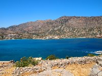 Elounda in the distance - view from Spinalonga Island.