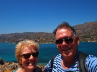 Selfie - on the highest point of Spinalonga Island - Crete.