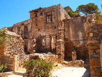 Some buildings on Spinalonga are in disrepair.