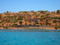The large building in the middle of the photo was the hospital for the lepers on Spinalonga Island.
