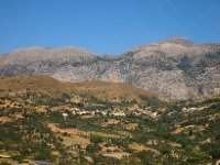 Stark mountains and fertile plateaus - close to the centre of the island of Crete.