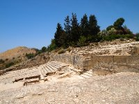 Ruins of the Phaestos Palace - the Palace was destroyed and rebuilt twice.