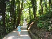 The walk to the Villa Balbianello - Lake Como.