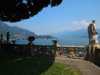 Beautiful sculptures surround the Villa Balbianello.