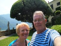 Selfie - in the grounds of the Villa Balbianello.