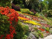 This colourful garden is visible from Lake Como.