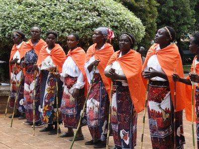 Kenyan tribe at Campus Library