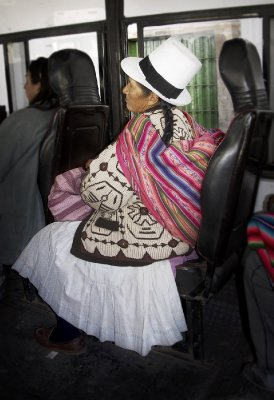 Lady on bus