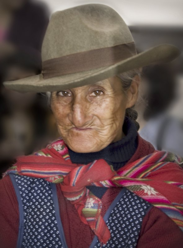 Lady in Plaza