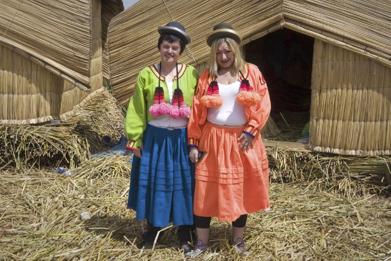 Ma and Claire at Uros
