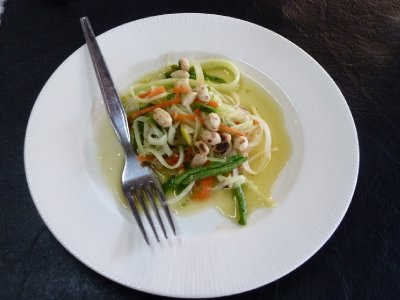 Therese's first attempt - green papaya salad