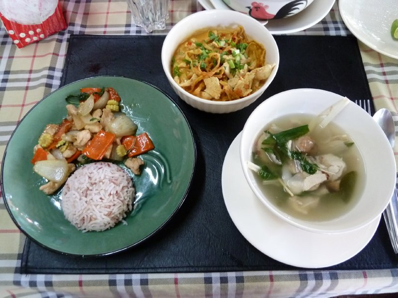 Therese's dishes at Thai Cooking School