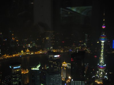 Shanghai&#39;s night time urbanscape