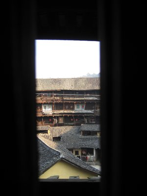 Arty photo of the view from my tulou room