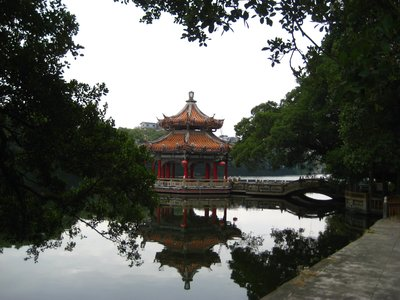 A water pavilion at West Lake park