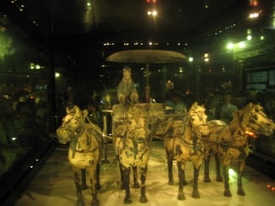 Bronze chariot in Xi'an