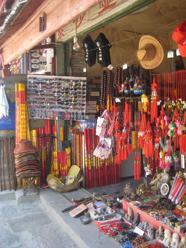 Shop selling religious trinkets and incense sticks...