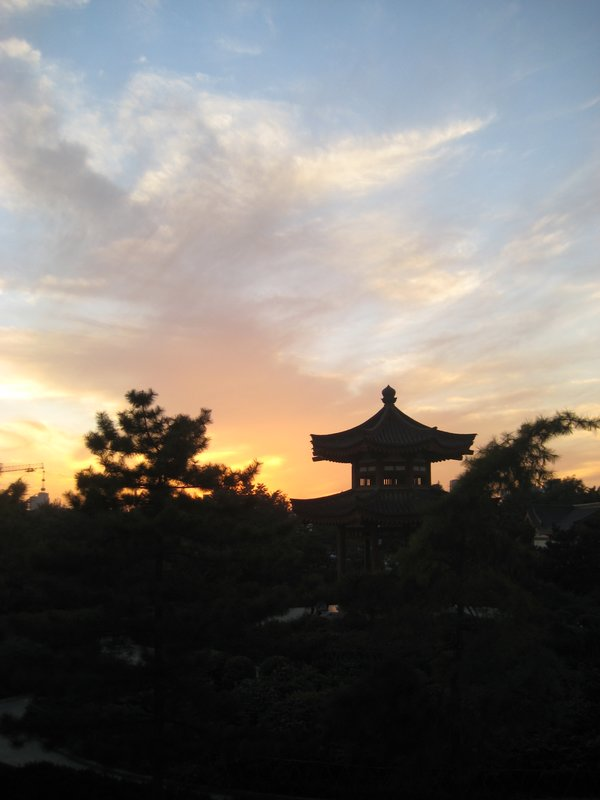 Big Pagoda grounds at sunset