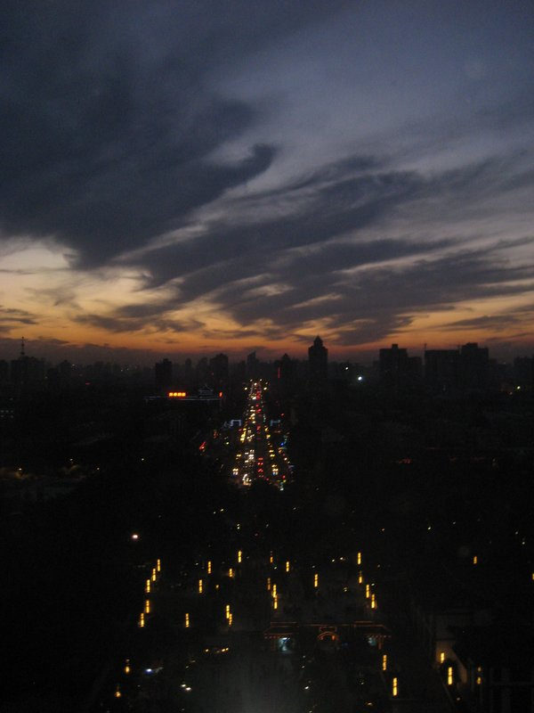 Dusk over Xi'an