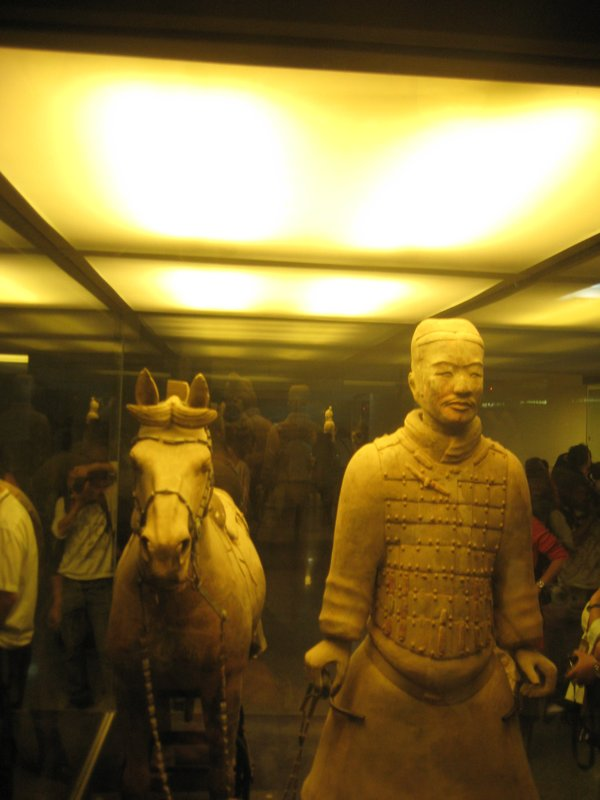 Individual guy and his terracotta horse