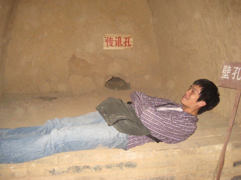 Me on a Sui Dynasty general's bed