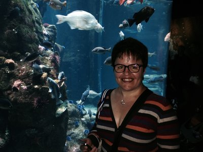 CB at aquarium