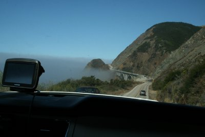 Pacific Coast Hwy CA-1 in the car