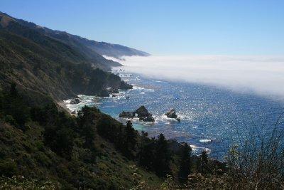Fog on the coast by the Big Sur
