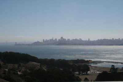 View of SF looking south over the bay