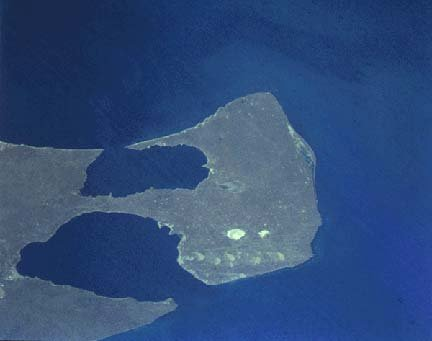 Peninsula Valdes by a satellite