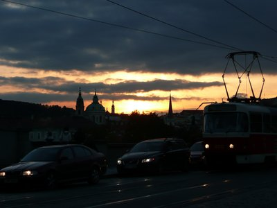 Sunset incl. tram