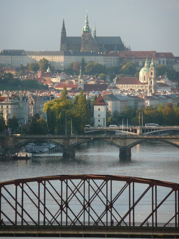View of Prague Castle from Vysehrad