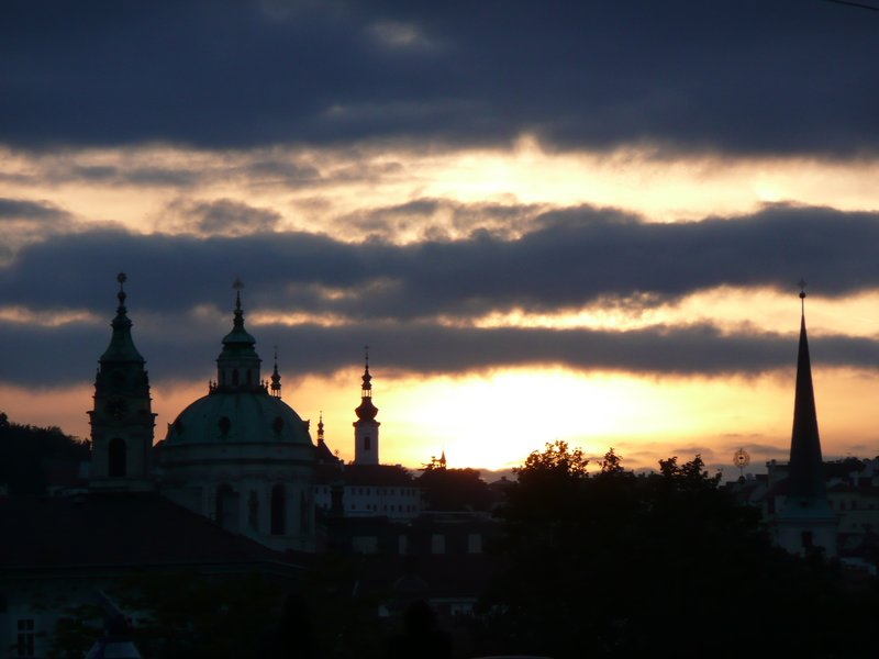 Promising sunset behind Mala Strana