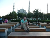 Me in front of Blue Mosque